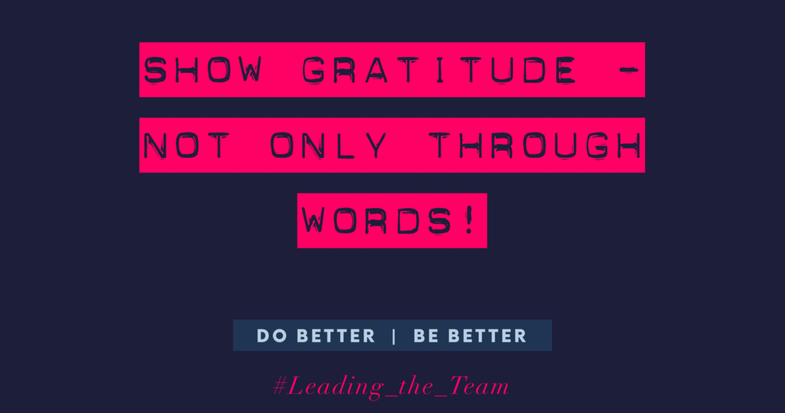 show gratitude not only with words
